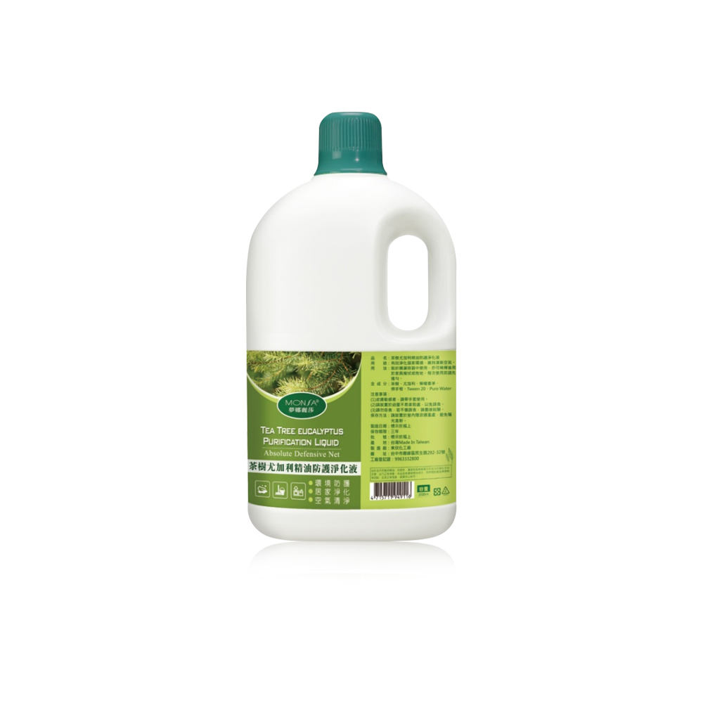 MONSA 茶樹尤加利精油防護淨化液 -2000ml-1入