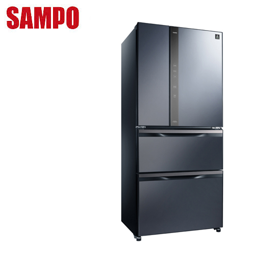 SAMPO聲寶 560公升變頻玻璃鏡面四門冰箱SR-NW56DD(B3)送安裝