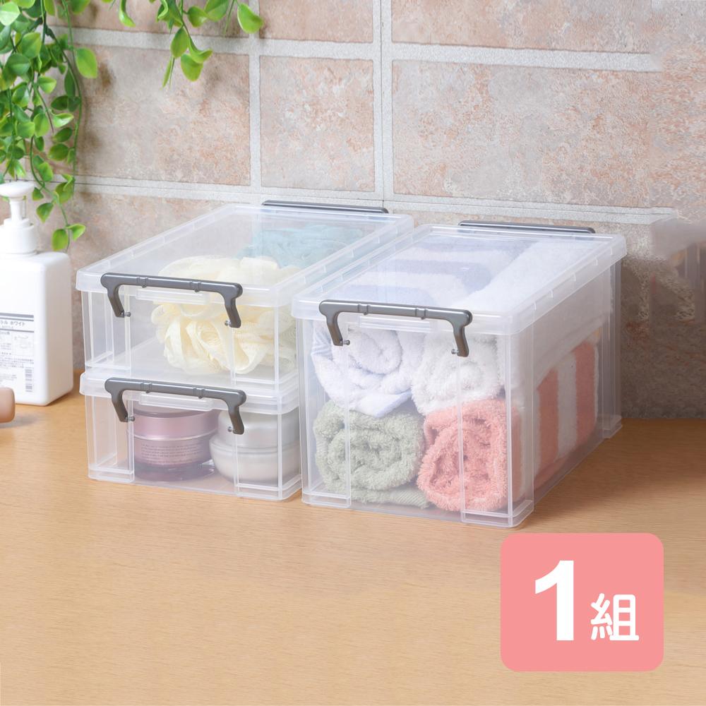 《真心良品》芬妮收納整理盒(3.7L+1.8L)-3入組