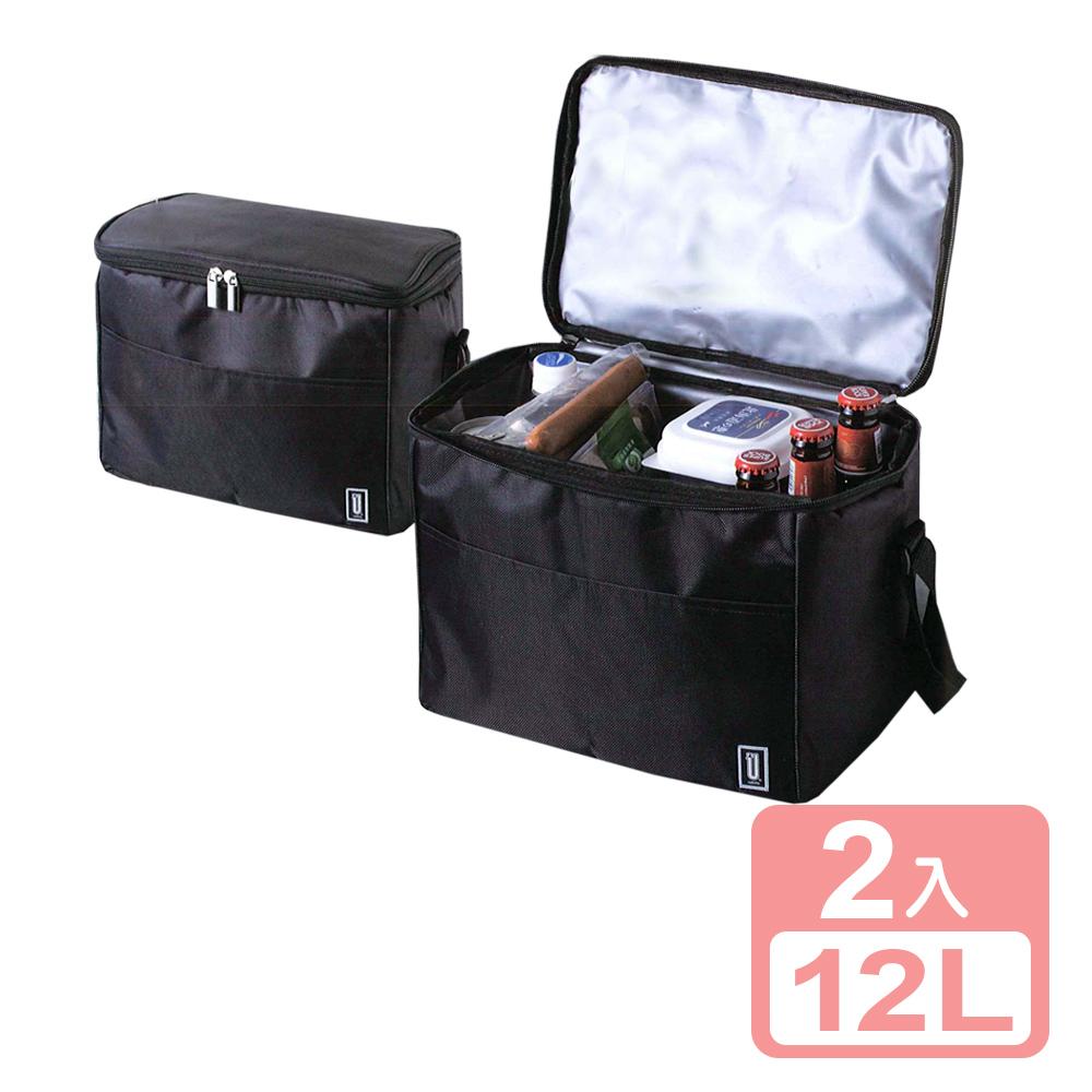 《真心良品xUdlife》酷黑保溫保冷袋12L-2入組