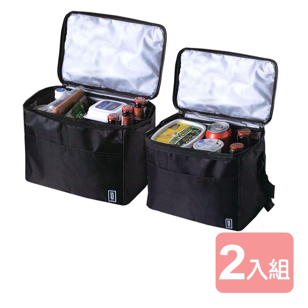《真心良品xUdlife》酷黑摺疊便利組保溫保冷袋-2入組