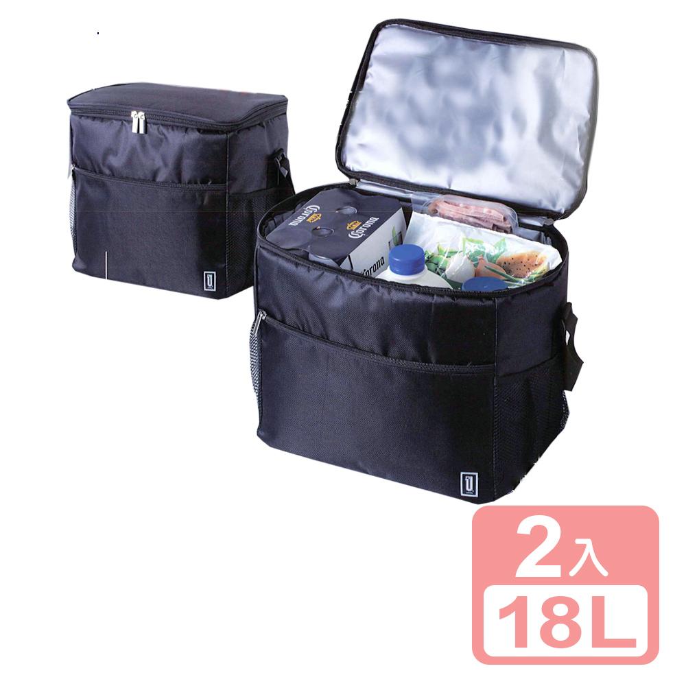 《真心良品xUdlife》酷黑保溫保冷袋18L-2入組