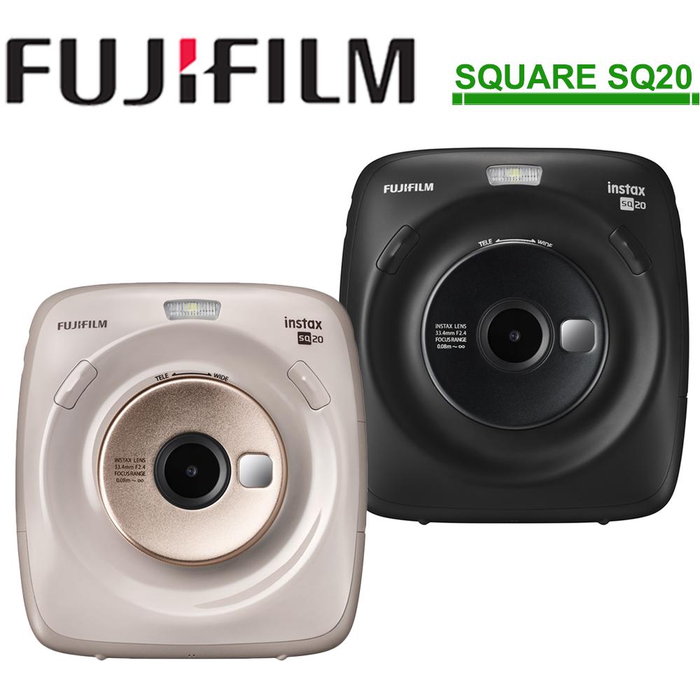 [空白底片x3+原廠袋]FUJIFILM instax SQUARE SQ20 方形拍立得相機/公司貨