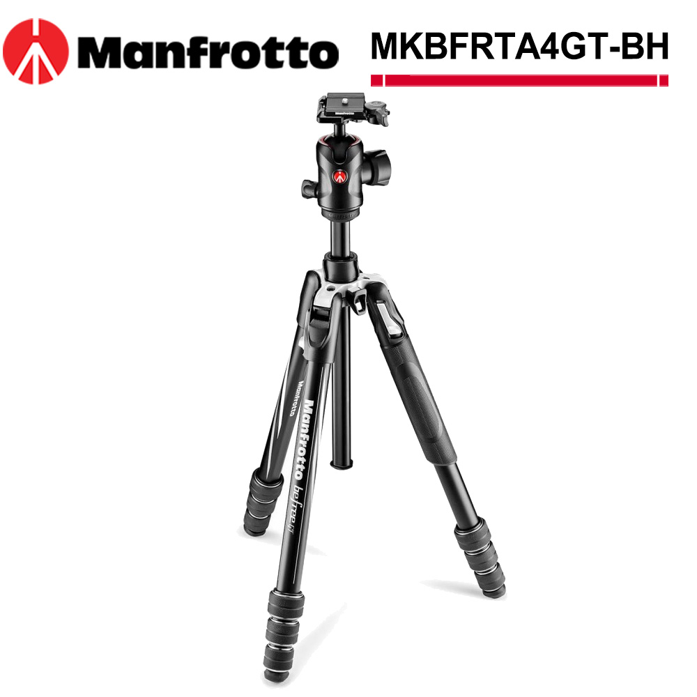 Manfrotto MKBFRTA4GT-BH Befree GT 腳架球型雲台套組(旋鈕)