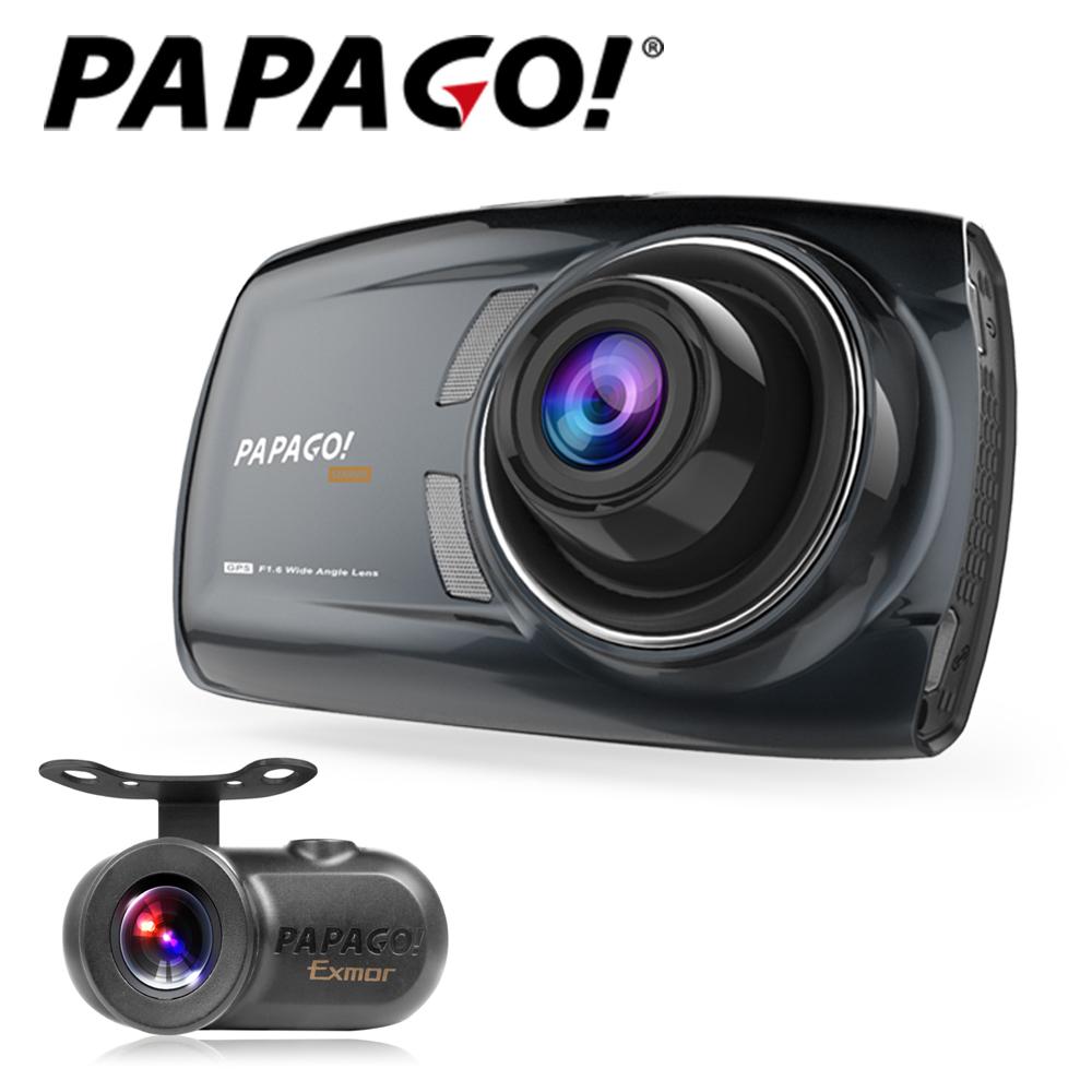 PAPAGO ! GoSafe S70G行車記錄器(兩年保固)+S1後鏡頭+32G+點煙器+擦拭布+手機矽膠立架
