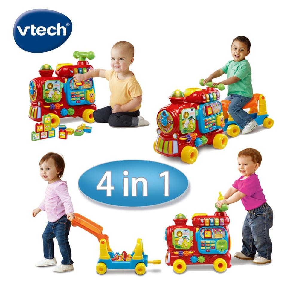 【Vtech】4合1智慧積木學習車