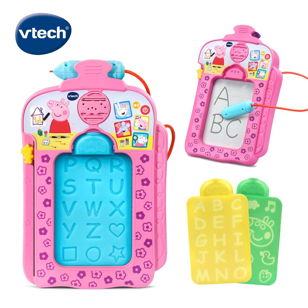 【Vtech】粉紅豬小妹-音樂字母感應學習畫板_F