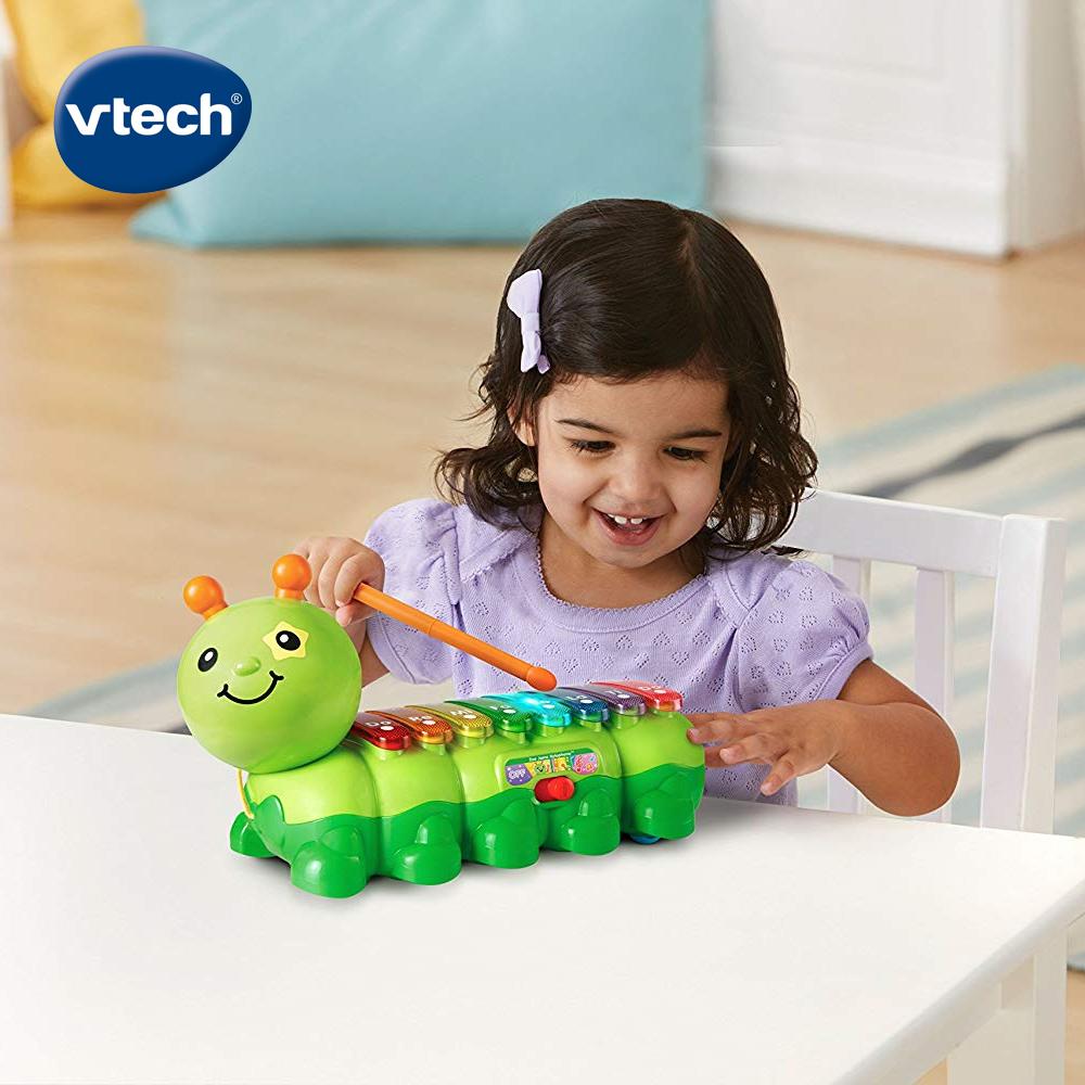 【Vtech】2合1動感敲敲毛毛蟲