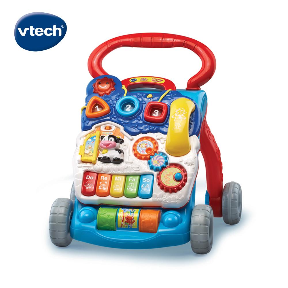 【Vtech】寶寶聲光學步車-藍色