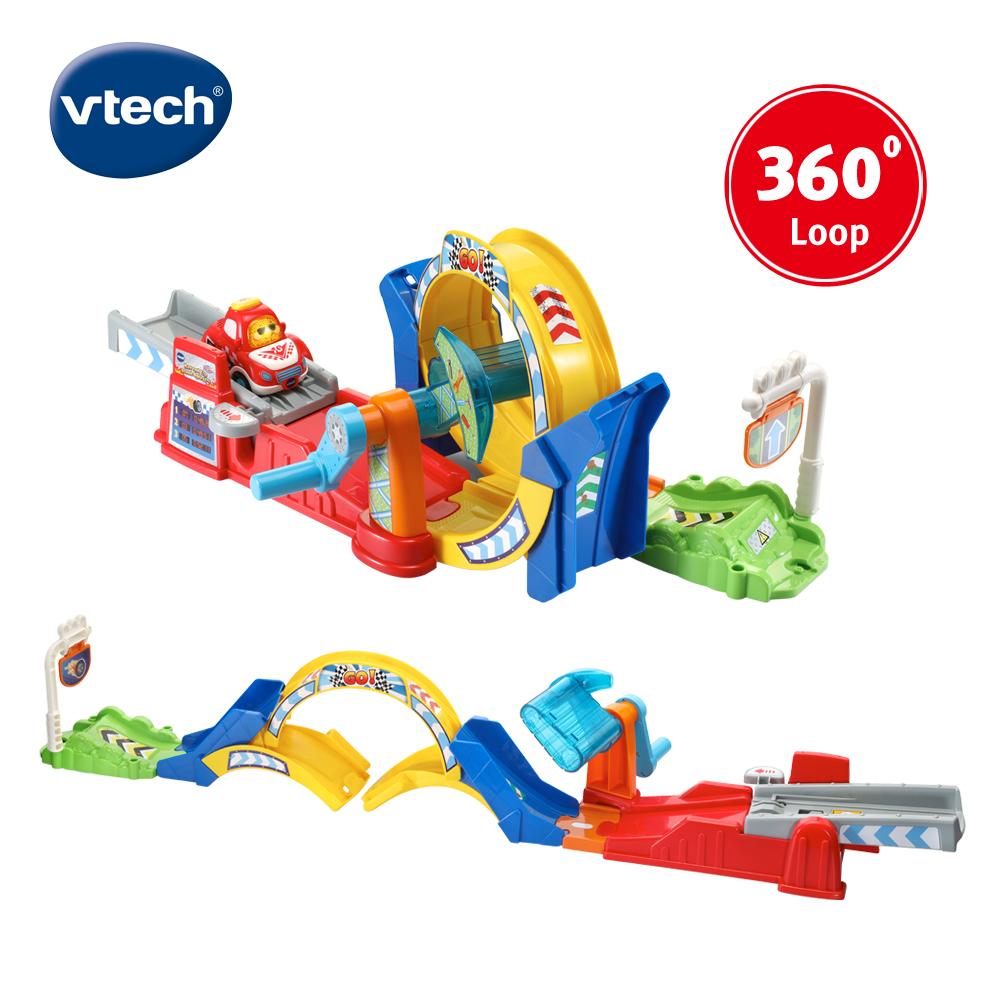【Vtech】嘟嘟聲光互動車-360度旋轉軌道組