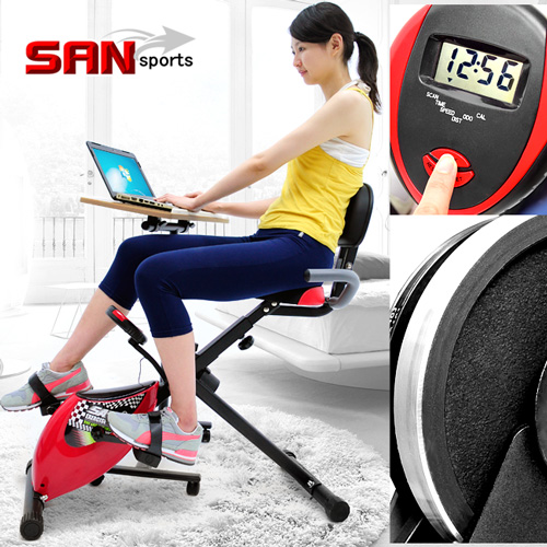 【SAN SPORTS 山司伯特】超跑飛輪式磁控健身車