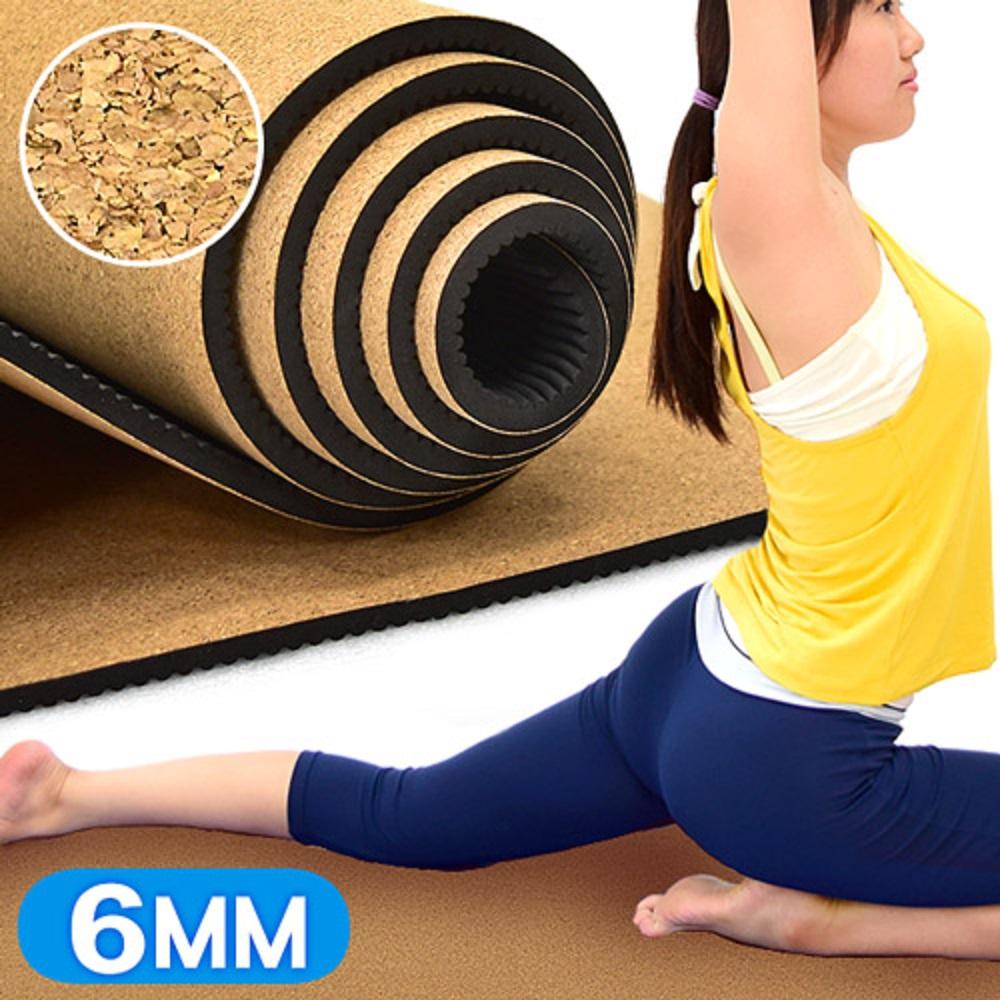 天然軟木TPE環保6MM瑜珈墊