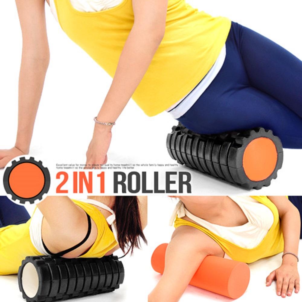 2in1中空瑜珈滾輪+按摩滾輪