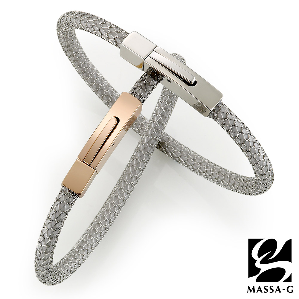 MASSA-G Titan XG2 5mm雪松銀超合金鍺鈦手環對組
