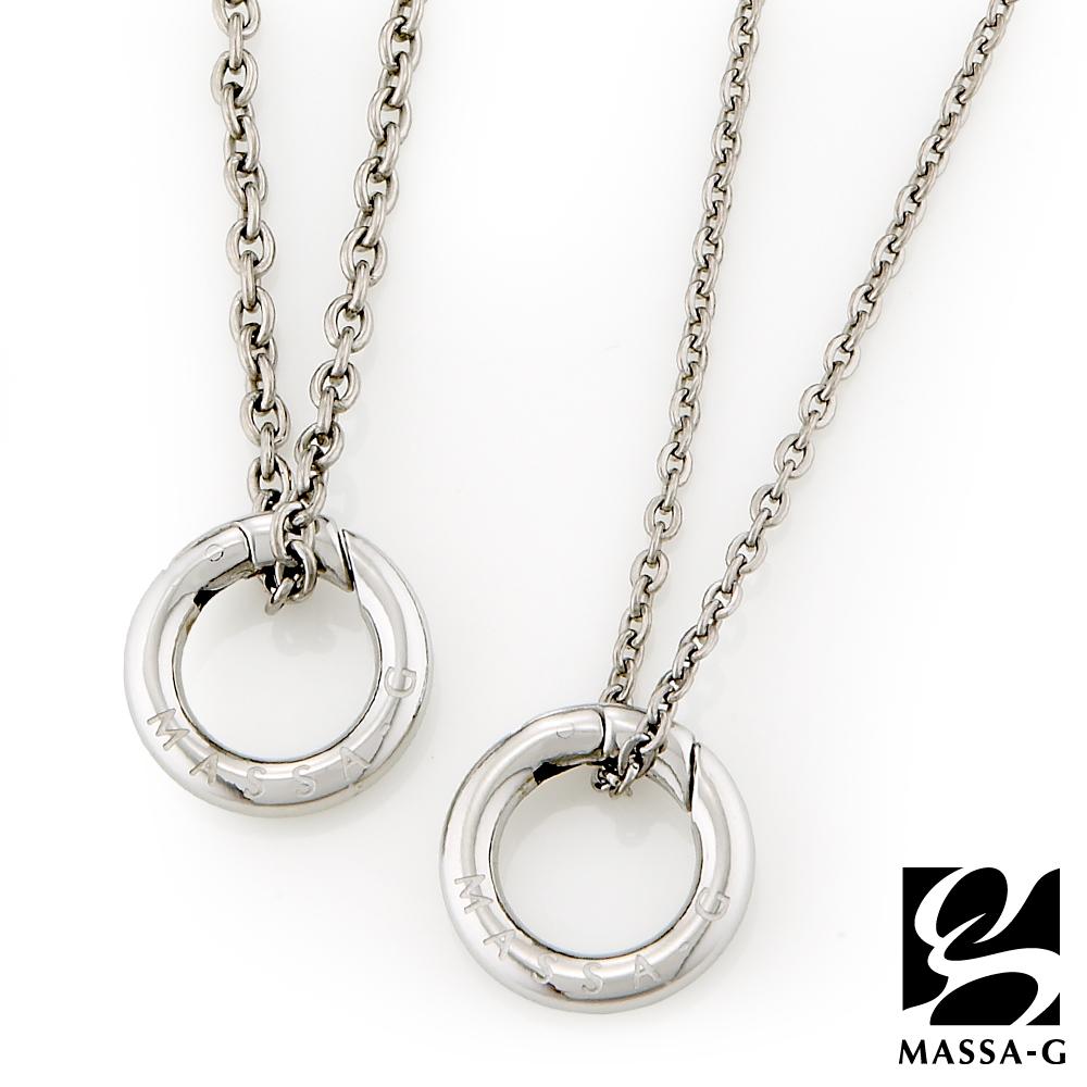 MASSA-G 【能量之環】金屬鍺錠純鈦對鍊