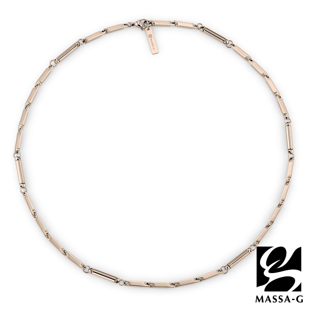 MASSA-G【Simple純粹】磁石能量項鍊-玫瑰金