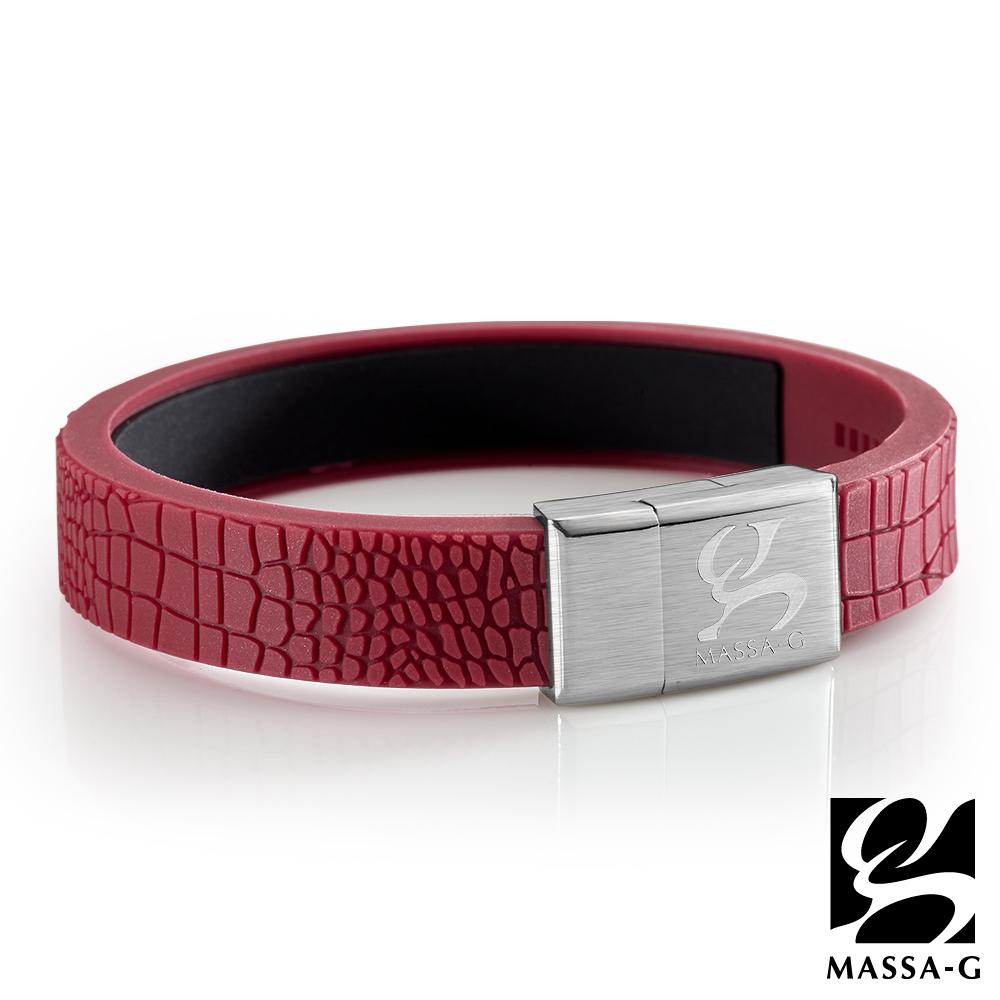 MASSA-G【絕色風華】鍺鈦能量手環-印度紅