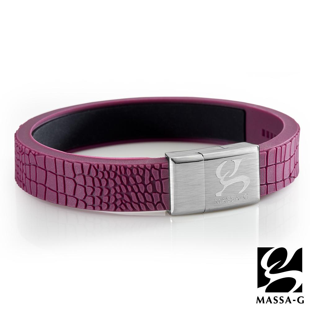 MASSA-G【絕色風華】鍺鈦能量手環-木槿紫