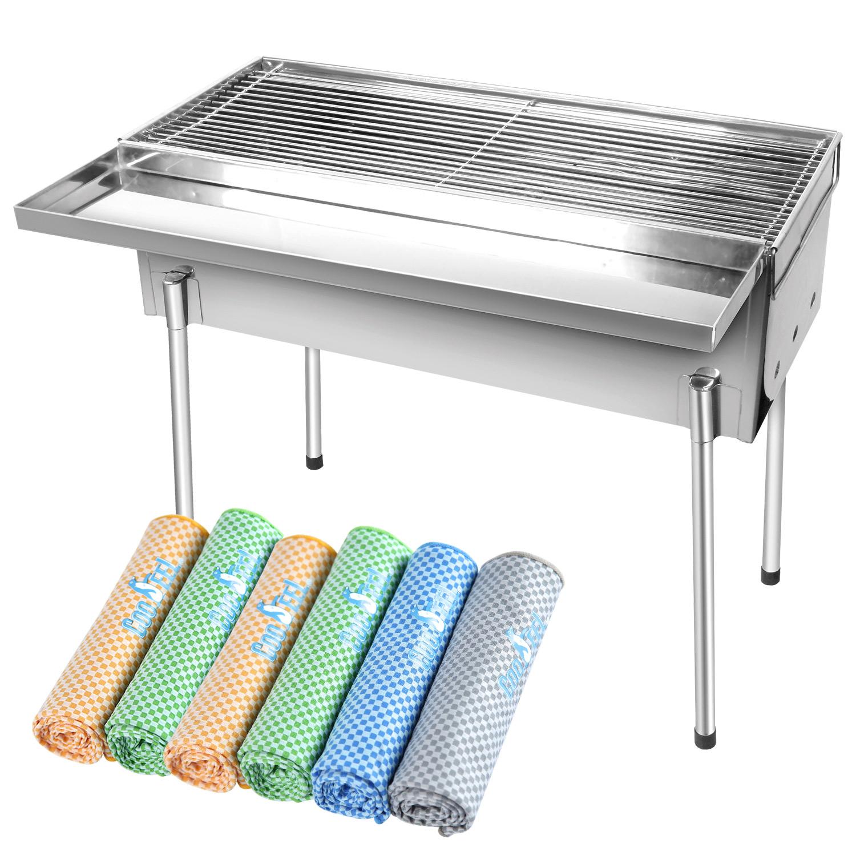 原價2640【腸腸久久趴踢組】YES 2尺不鏽鋼高腳香腸爐+竹炭添加冰涼巾x6