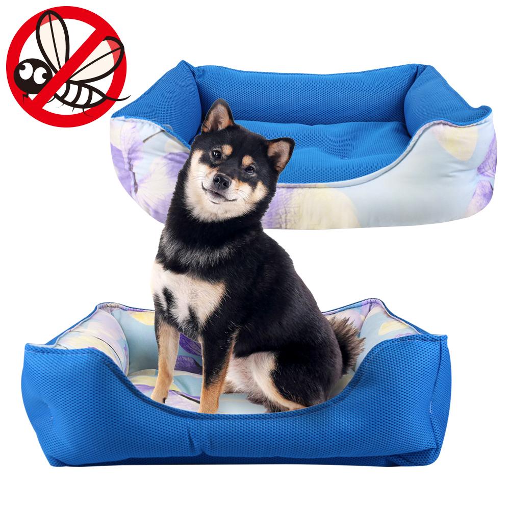 JohoE 寵物墊台灣製防蚊蟲冬夏反轉兩用狗窩/寵物床/透氣涼感墊L