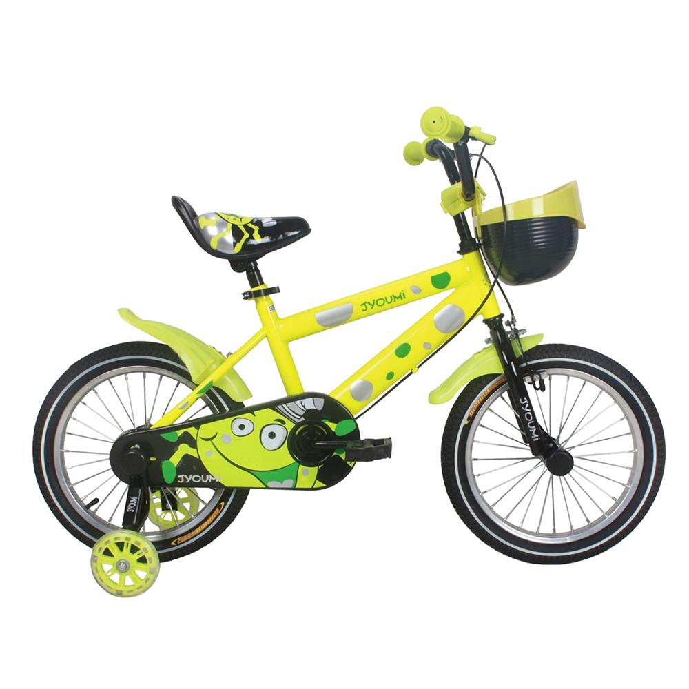 寶貝樂嚴選 16吋小精靈兒童腳踏車輔助輪三輪車-黃