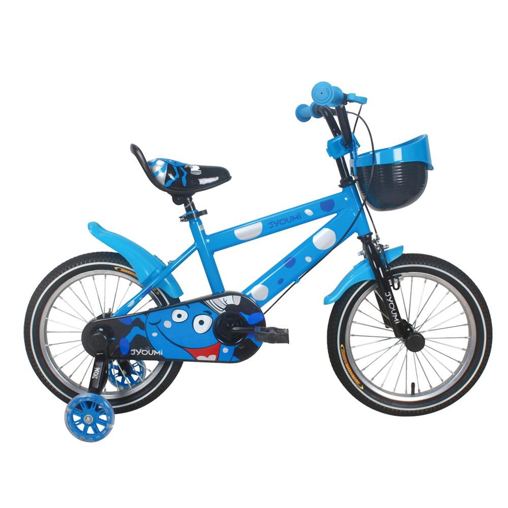 寶貝樂嚴選 16吋小精靈兒童腳踏車輔助輪三輪車-藍