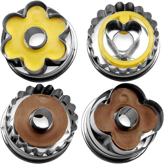 《TESCOMA》餅乾推壓模(圓與花)