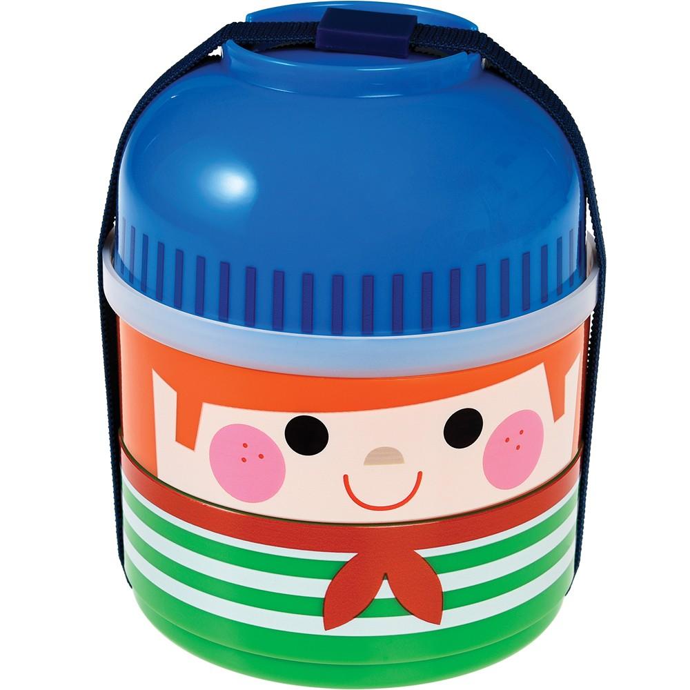 《Rex LONDON》三層兒童餐盒(小水手)