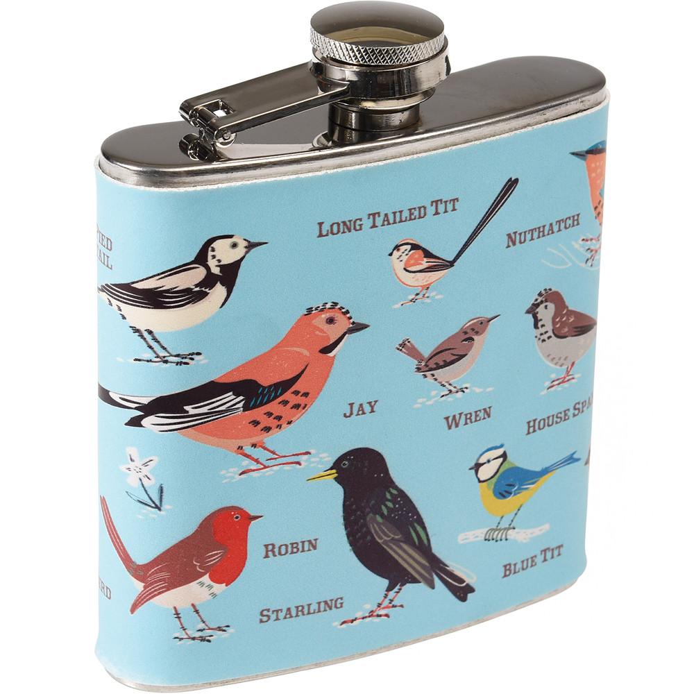 《Rex LONDON》不鏽鋼酒壺(花園鳥175ml)