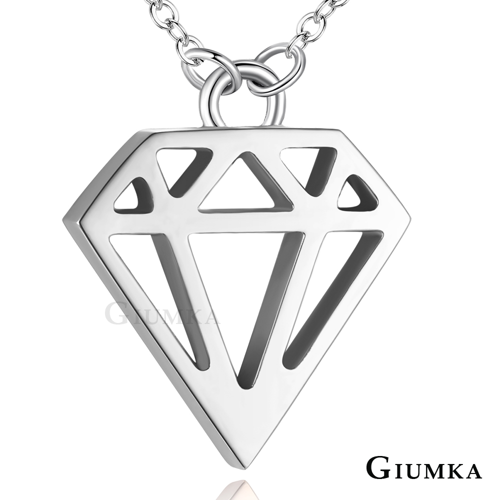 GIUMKA【年中慶$618up】白鋼女鍊 簡約鑽石短項鍊 銀色