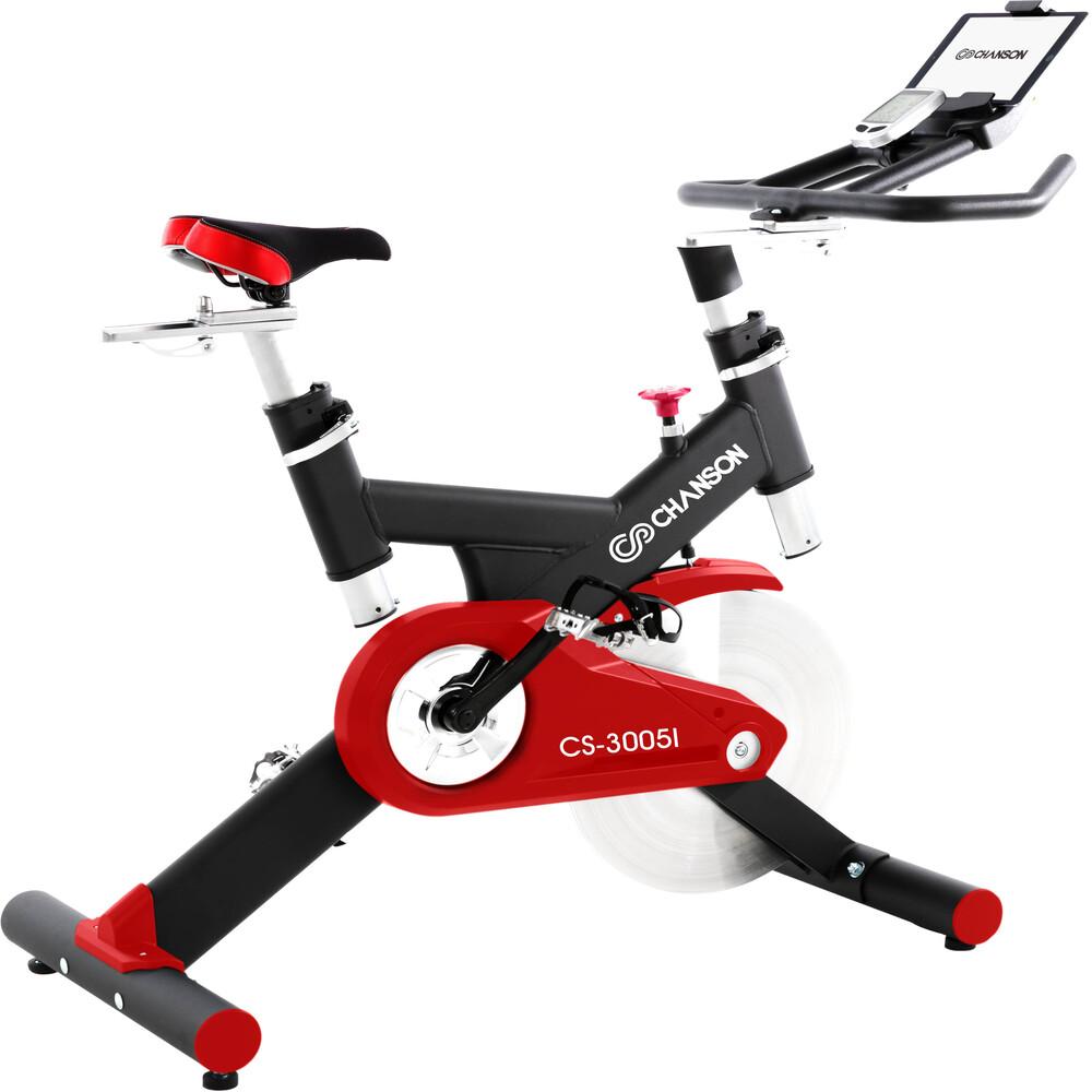 【強生CHANSON】飛輪競速健身車CS-3005★送地墊+S美人棒+S蝴蝶機+貝殼機
