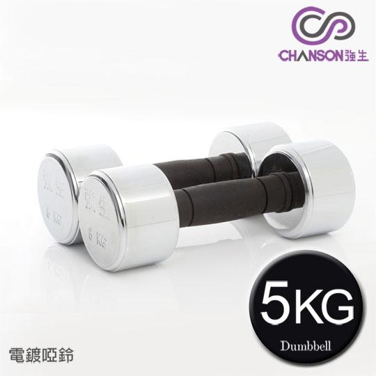 【強生CHANSON】電鍍啞鈴5KG-2支入