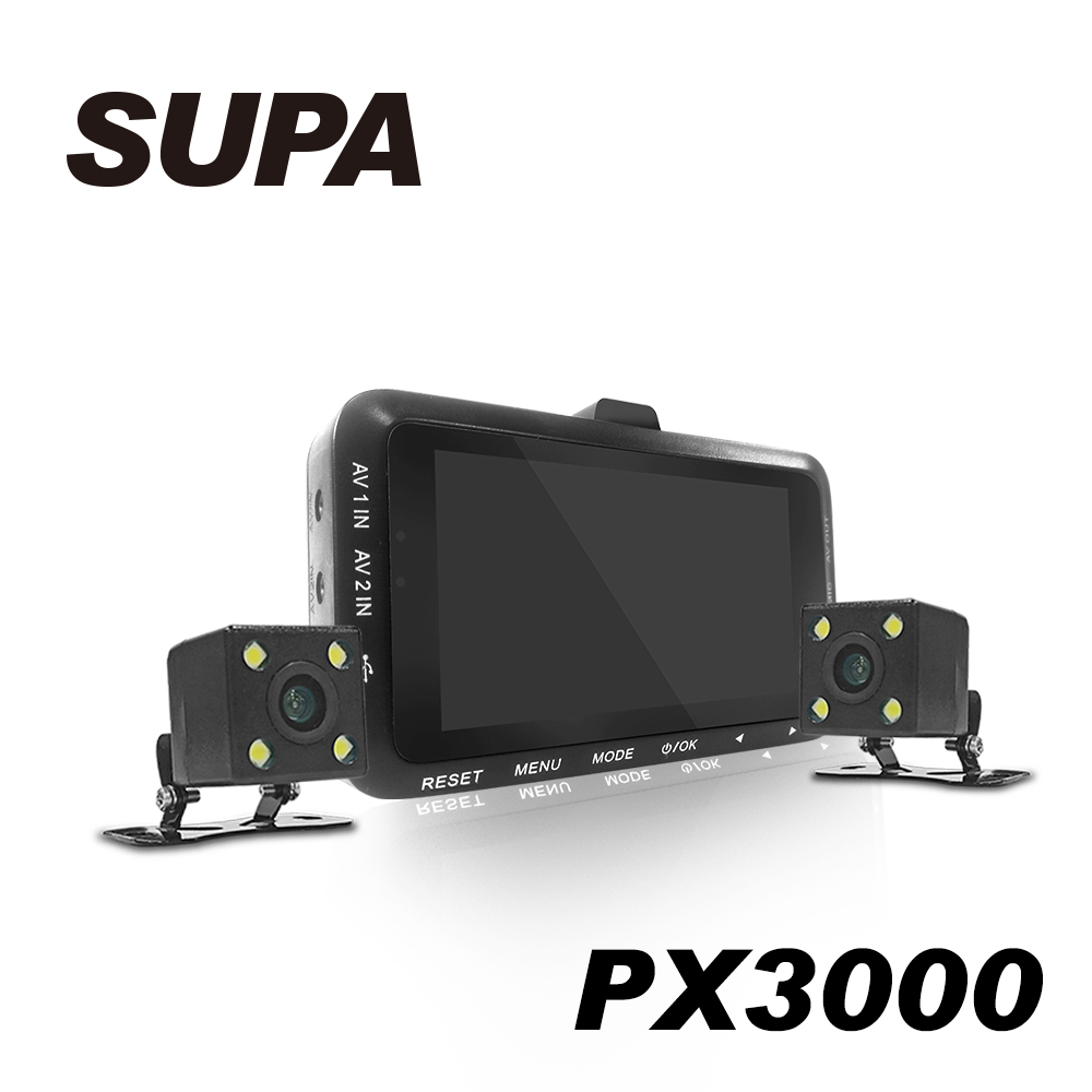 速霸PX3000 1080 HD高畫質超廣角 機車防水雙鏡行車記錄器