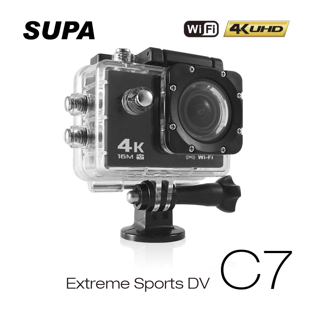 速霸 C7 4K/1080P超高解析度 WiFi 極限運動 機車防水型行車記錄器(送32G TF卡)