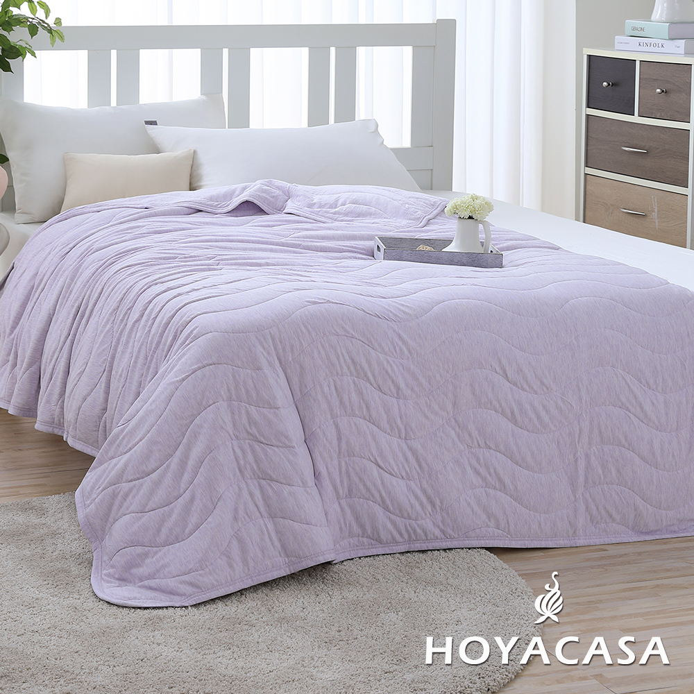 涼夏推薦!!《HOYACASA 樂活主義》莫代爾針織涼感夏被-優雅紫