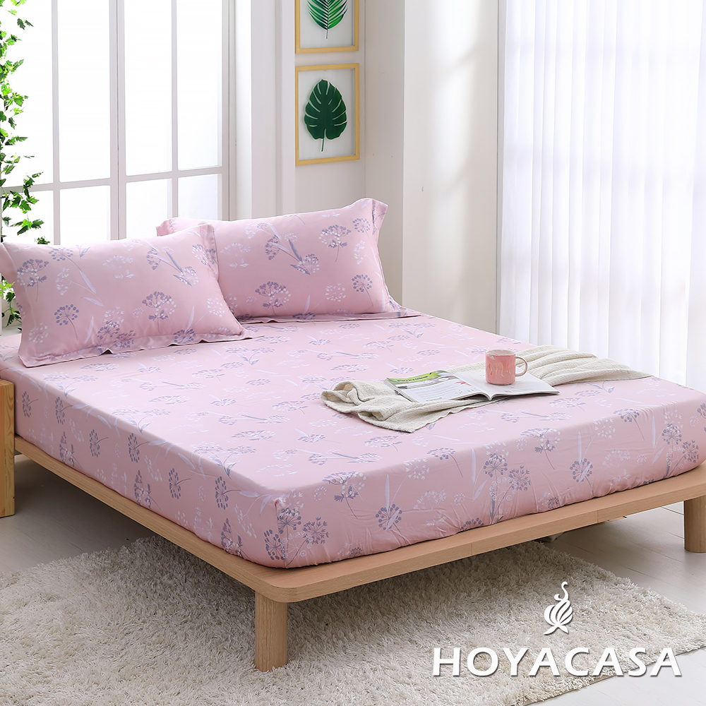 《HOYACASA華爾芳庭》加大親膚極潤天絲床包枕套三件組