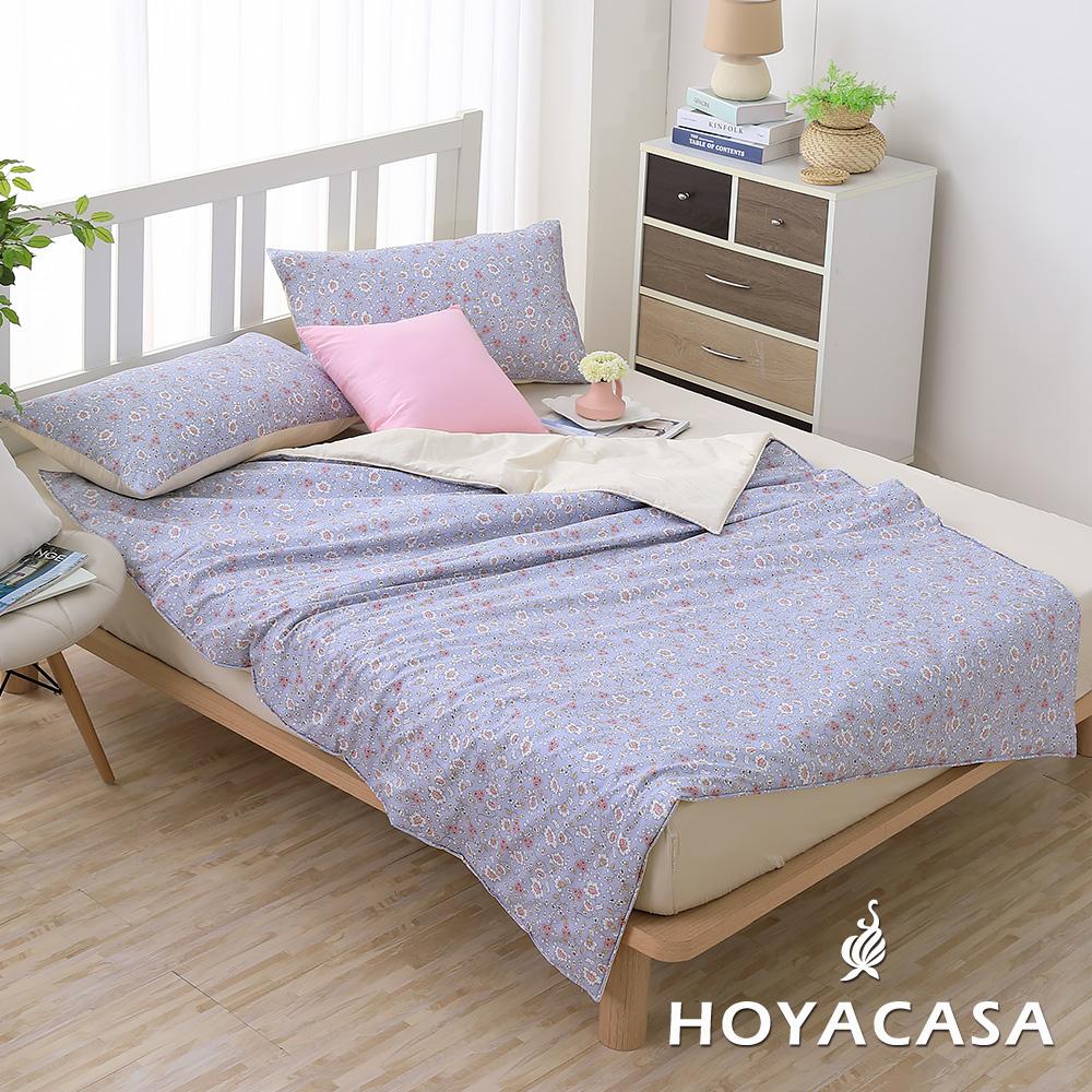 《HOYACASA復刻回憶》純棉舒柔涼被枕套三件組