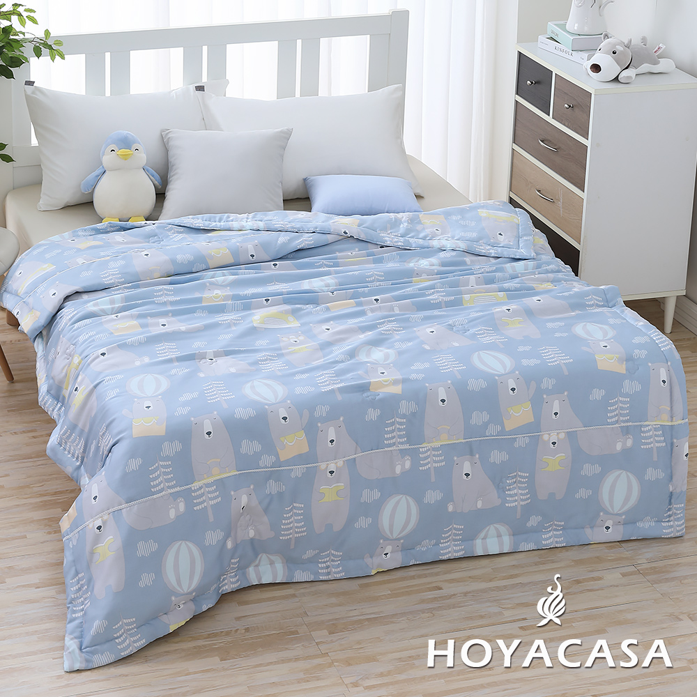 《HOYACASA頑皮寶貝》涼爽輕柔100%天絲夏被(5x6尺)