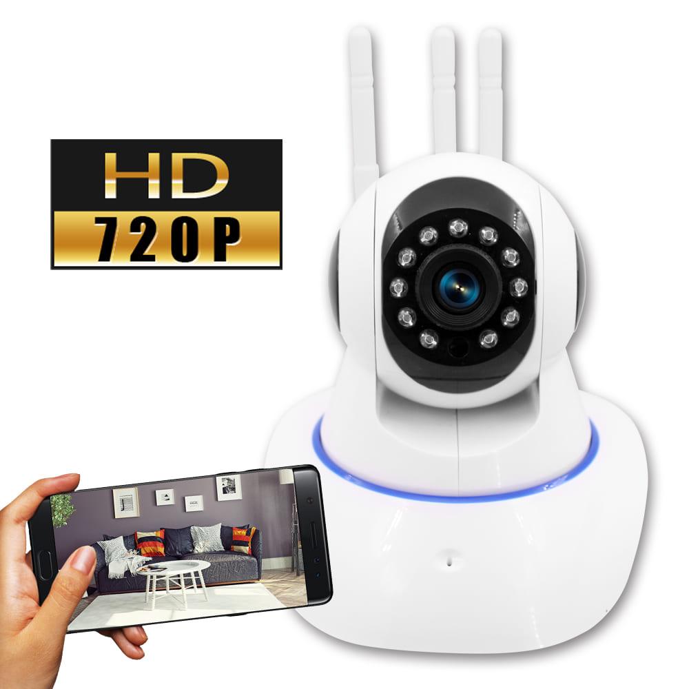 【監視者】三天線360度全景紅外線WiFi網路監控攝影機