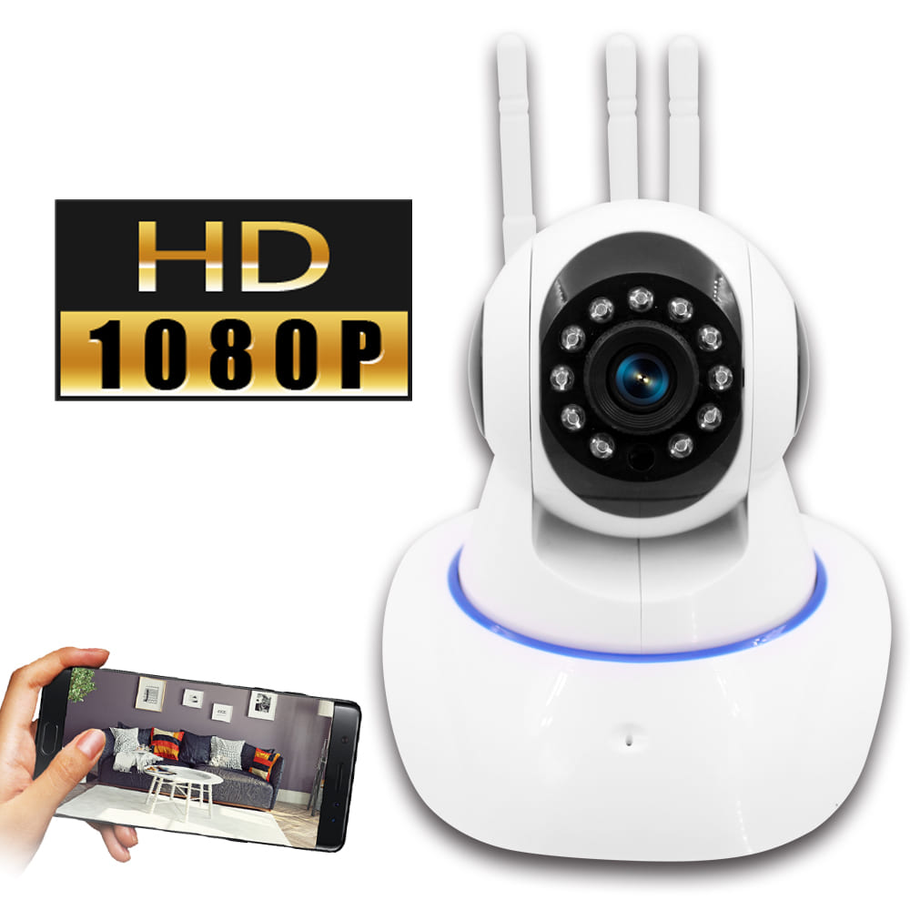 【監視者PRO】三天線360度全景紅外線WiFi網路監控攝影機