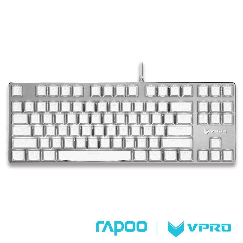 雷柏 RAPOO VPRO V500S 水晶版機械軸遊戲鍵盤(青軸)