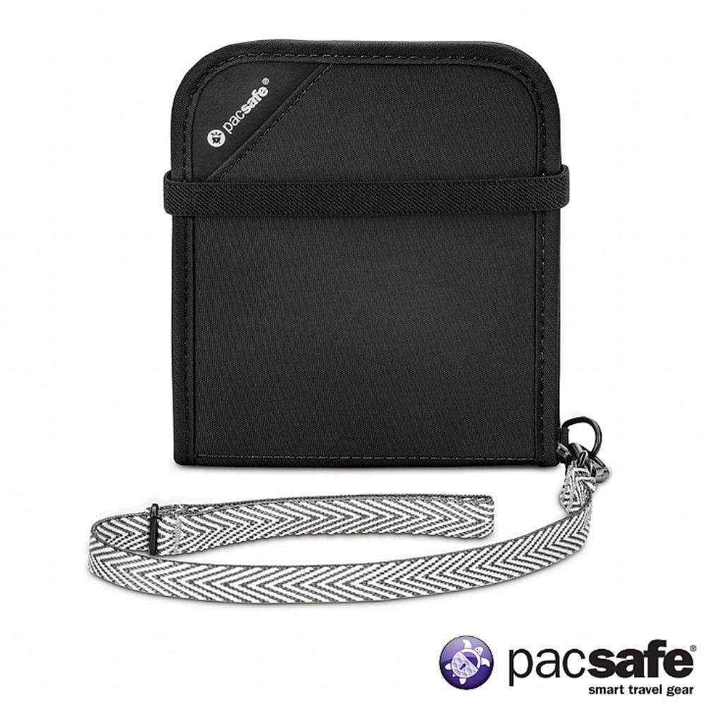 Pacsafe RFIDSAFE V100 防盜皮夾(黑色)