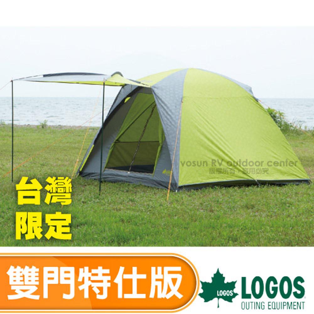 【日本 LOGOS】新款雙色限量 5~6人四季型帳蓬.圓屋頂帳棚.戶外露營 LG 71801816