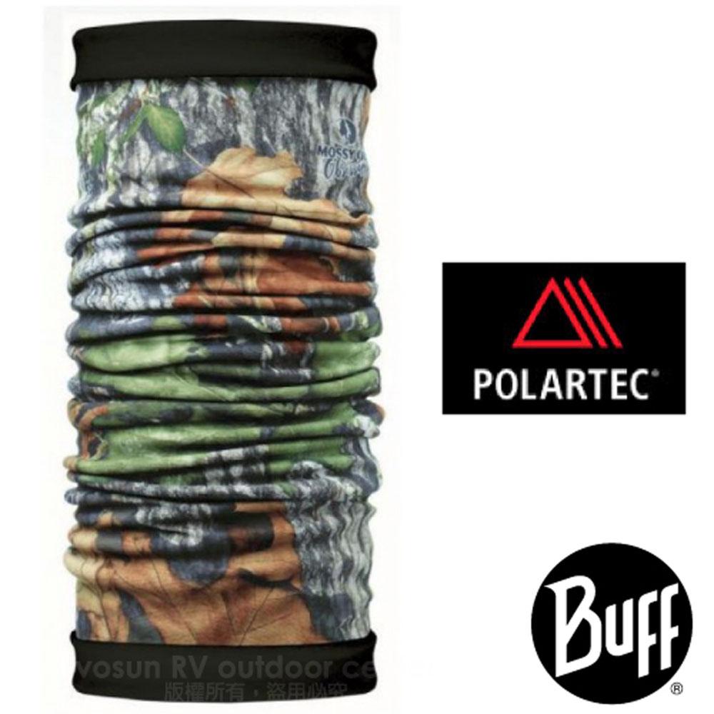 【西班牙 BUFF】橡樹迷彩雙面用 POLARTEC 超彈性保暖防風魔術頭巾.圍巾.口罩_100191 枯木樹葉