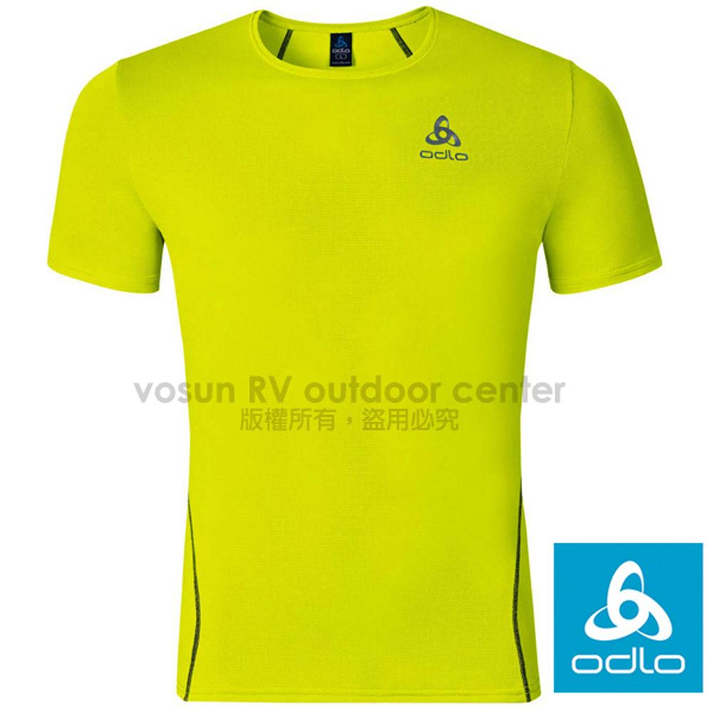 【瑞士 ODLO】男款 輕量套頭短袖圓領T恤.彈性透氣運動衫.吸濕排汗上衣.休閒衫/螢光黃 349042-50016