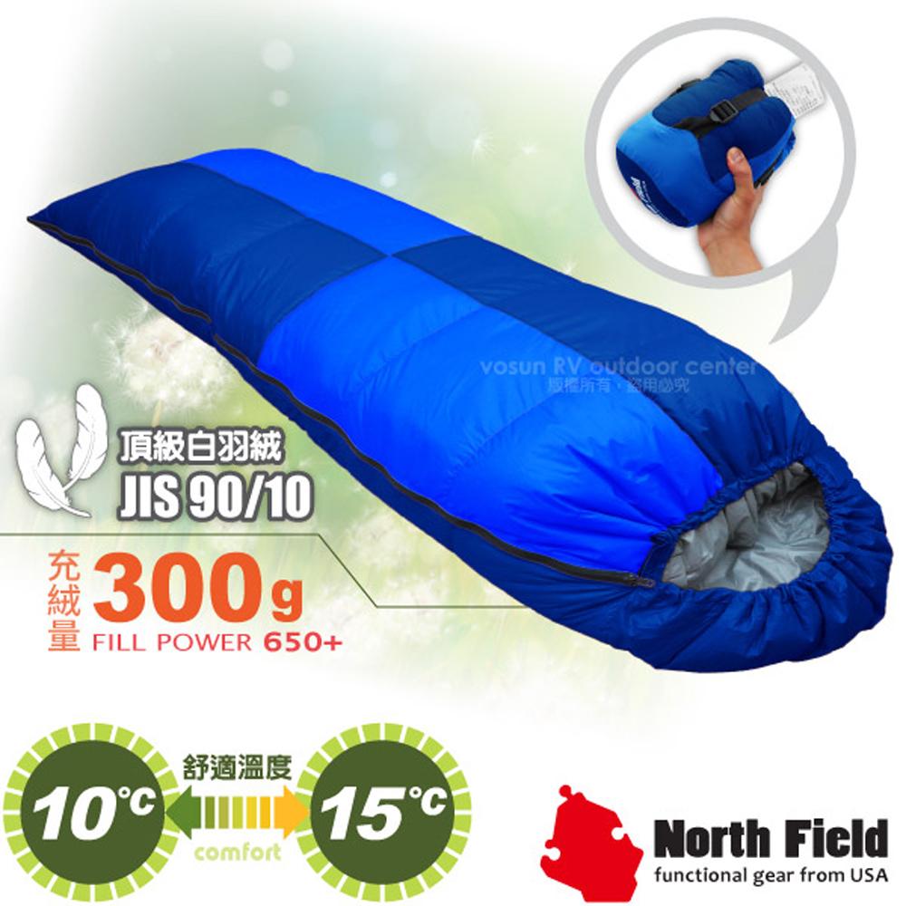 【美國 North Field】杜邦Tactel 頂級白羽絨睡袋300g(左右合併.信封型羽絨被)/登山露營/NFS300 岩藍