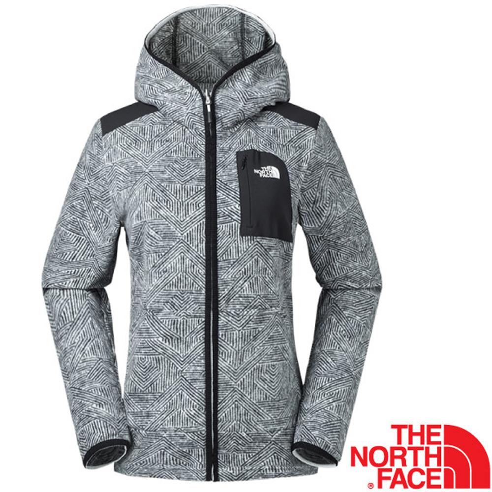 【美國 The North Face】女新款 超輕量時尚連帽保暖刷毛外套/夾克(可當中層衣)/亞洲版型/2Y2S 黑 N