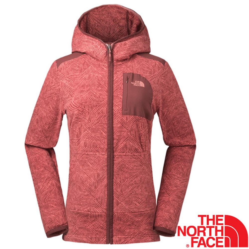 【美國 The North Face】女新款 超輕量時尚連帽保暖刷毛外套/夾克(可當中層衣)/亞洲版型/2Y2S 紅 N