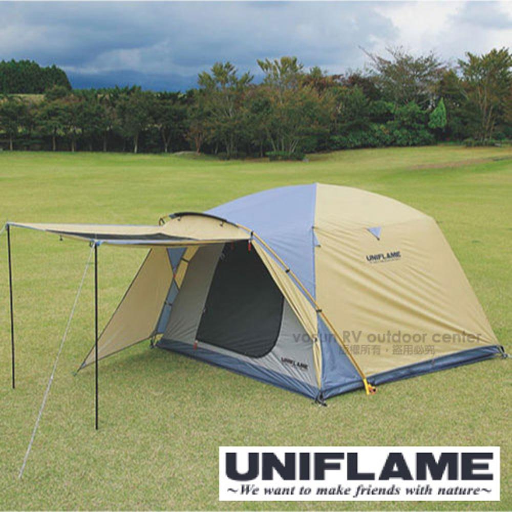 【日本 UNIFLAME】新款 REVO 鋁合金防水透氣5~6人頂級露營帳蓬套餐組(270×270cm) 家庭帳棚/681022