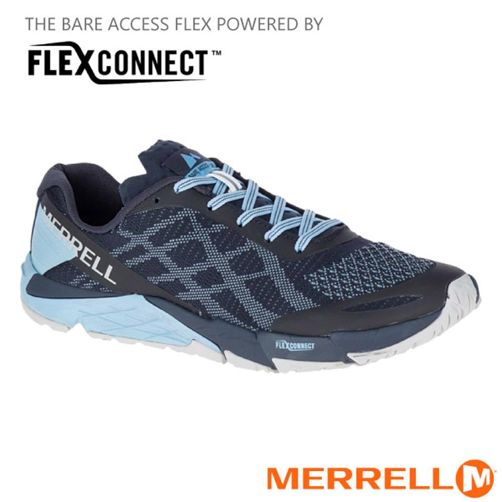 【美國 MERRELL】男新款 BARE ACCESS FLEX E-MESH 多功能透氣慢跑鞋.機能鞋.休閒鞋.運動鞋/ML12547 黑/灰